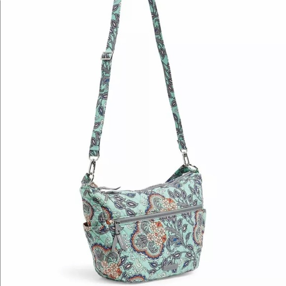 Vera Bradley Convertible Go Ahead Shoulder /Crossbody Bag Fan Flowers
